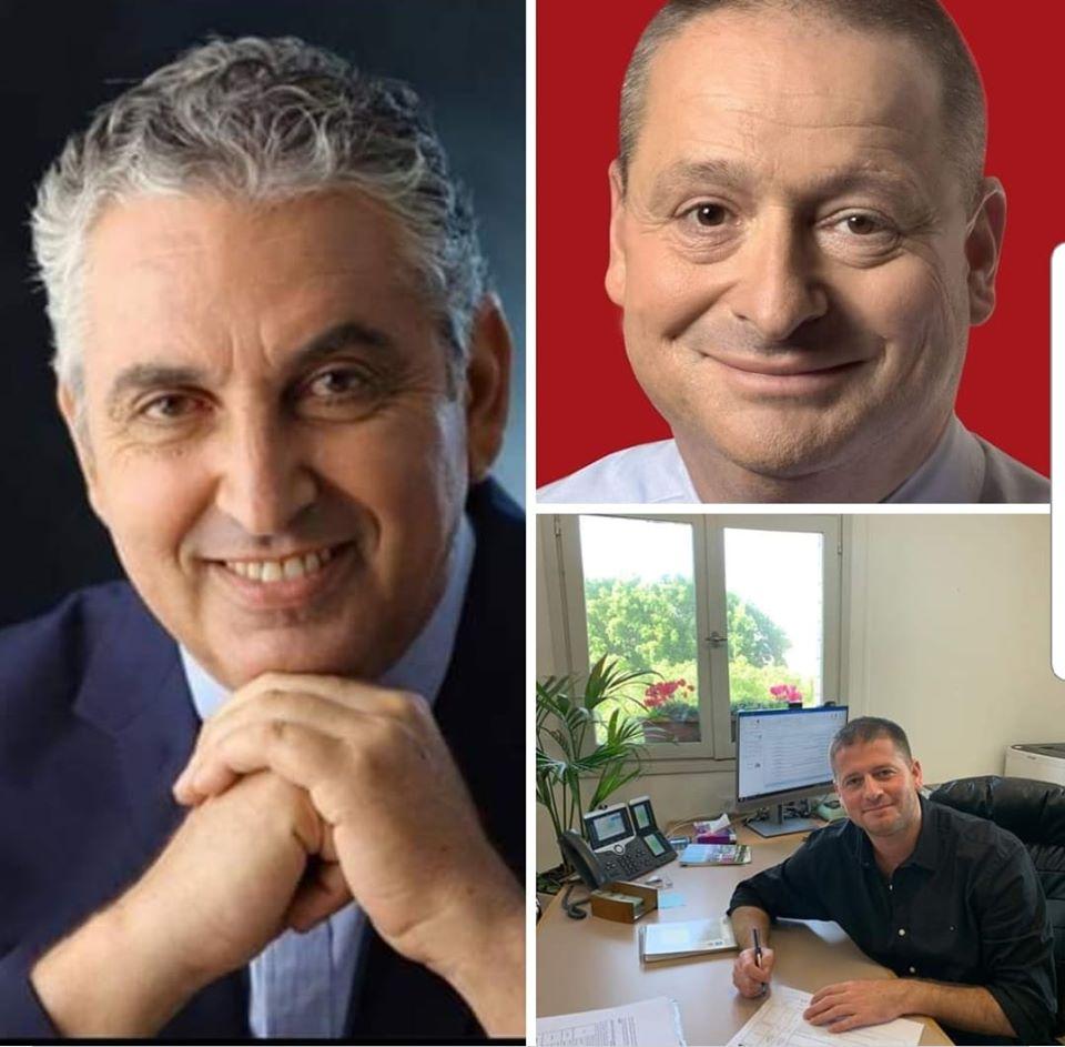 """ראש העיר רעננה, חיים ברוידא, סגנו ניר קריסטל, ומנכ""""ל העירייה אריאל הילדסהיימר, הודיעו על הפחתה של 10% משכרם"""