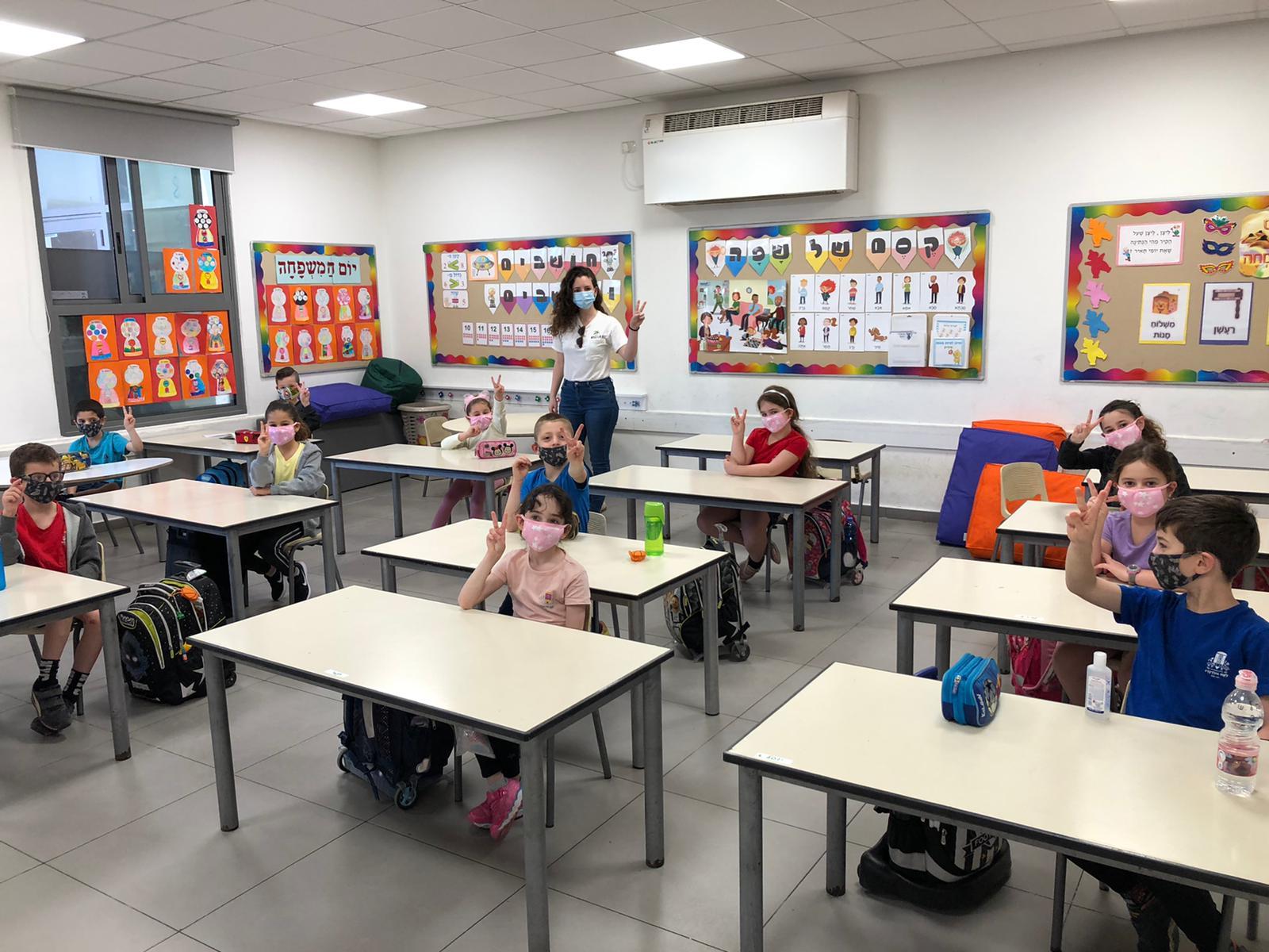 כפר סבא: הבוקר חזרה כמעט כל מערכת החינוך ללימודים, הצהרונים מחר, ד'-י' בשלישי