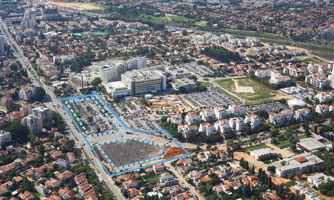 """ביה""""ח מאיר משנה פניו: מרכז מסחרי, מרפאות מעבדות ומכונים, מלונית ומלון עסקים, 450 יחידות דיור"""